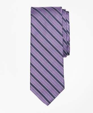 Brooks Brothers Dot Framed Stripe Tie