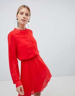 UNIQUE21 Unique 21 Red Pleated Dress