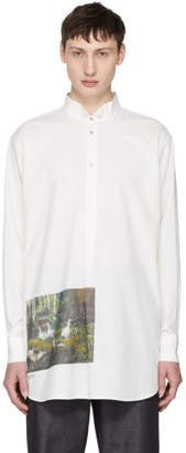 Acne Studios White Mosippa CTN Forest Shirt