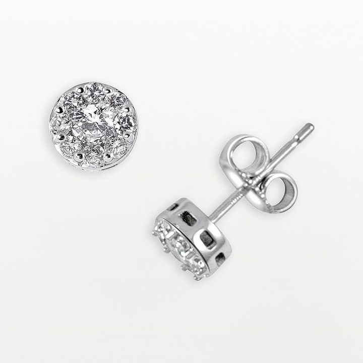 Endless diamond 14k white gold 1/2-ct. t.w. diamond stud earrings