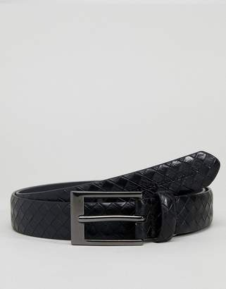 French Connection Embossed Belt In Black
