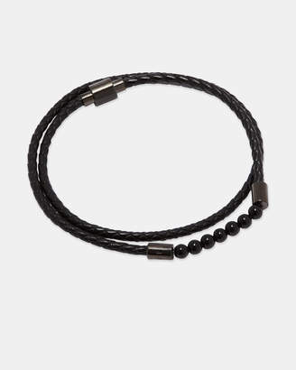 Ted Baker LIZAA Beaded leather double wrap bracelet