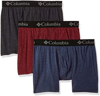 Columbia Men's Performance CTTN Stretch 3 PK Solid Boxer Brief