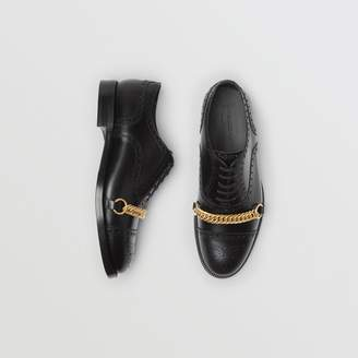 Burberry Link Detail Leather Brogues