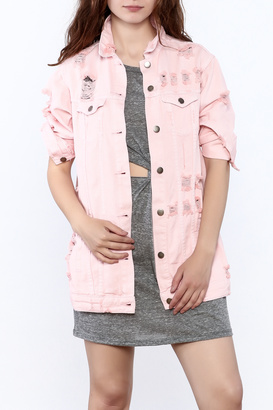 Hot & Delicious Pink Denim Jacket $45.99 thestylecure.com