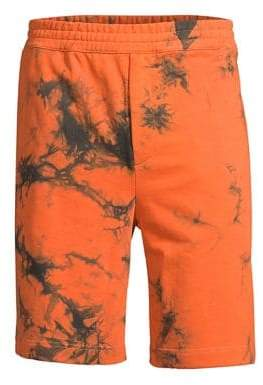 Helmut Lang Marbled Cotton Terry Shorts
