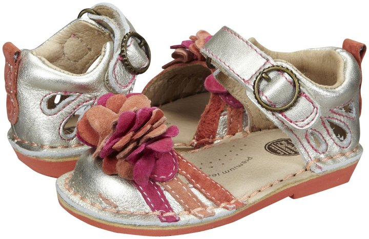Stride Rite Medallion Collection Amora (Toddler) - Light Gold/Multi-4 M Inf