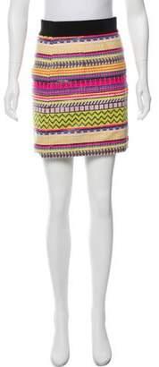 Milly Striped Mini Skirt