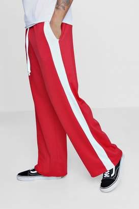 boohoo Wide Leg Panel Joggers