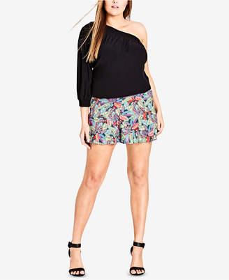 City Chic Trendy Plus Size One-Shoulder Top