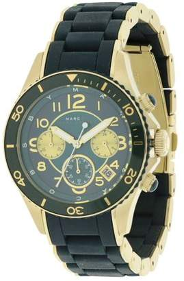 Marc Jacobs Marc by Rock Matte Teal Silicone Chronograph Ladies Watch MBM2597