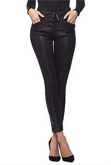 Good American Good Waist Waxed Lace Up Super High Rise Jean