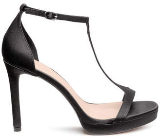 H&M Satin sandals - Black