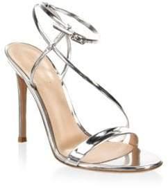 Gianvito Rossi Metallic Ankle-Strap Sandals