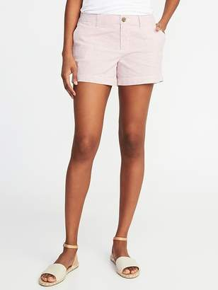 Old Navy Mid-Rise Everyday Seersucker Shorts For Women - 3.5 inch inseam