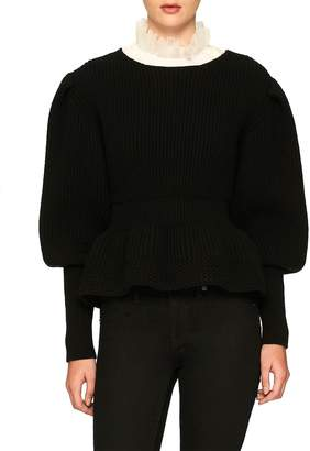 Burberry Women's Wool & Cashmere Ribbed Sweater