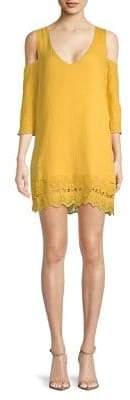 BB Dakota Cold-Shoulder Mini Shift Dress