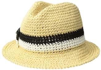 Kate Spade Crochet Bicolor Bow Trilby Caps