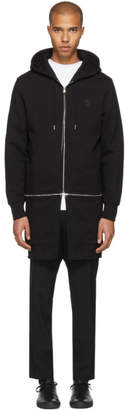 Alexander McQueen Black Detachable Zip Hoodie