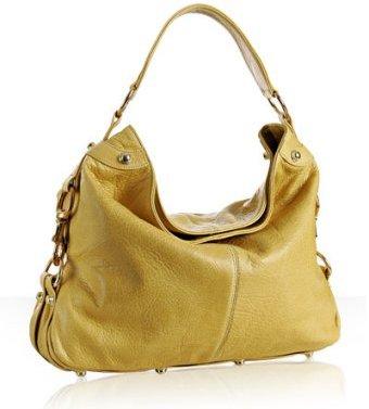 Rebecca Minkoff yellow pebble leather 'Mini Nikki' shoulder bag
