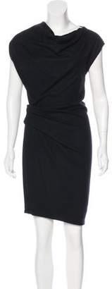 Helmut Lang Wool Knee-Length Dress
