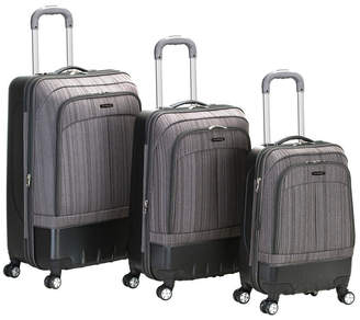 Rockland 3-Piece Milan Hybrid Eva or ABS Luggage Set