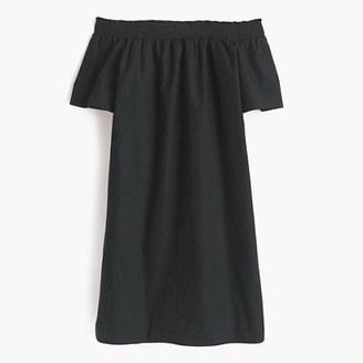 Petite off-the-shoulder dress in cotton poplin $118 thestylecure.com