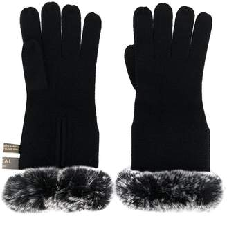 N.Peal lined cuff gloves