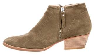 Aquatalia Suede Pointed-Toe Booties