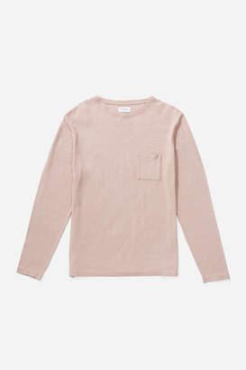 Saturdays NYC Mason Gauze Linen Long Sleeve T-Shirt