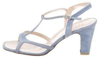 Maryam Nassir Zadeh Suede & PVC T-Strap Sandals