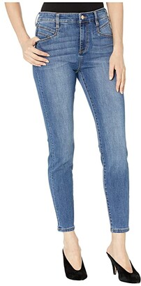 Liverpool Abby High-Rise Ankle Skinny w/ Slant Pockets in Eco-Friendly Denim in Laine