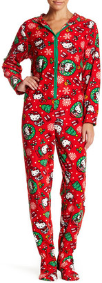 Hello Kitty Printed Fleece Jumpsuit $48 thestylecure.com