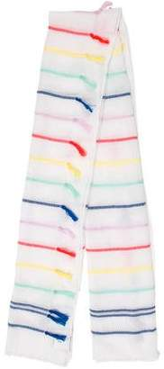 Rebecca Minkoff Fringe-Trimmed Embroidered Scarf