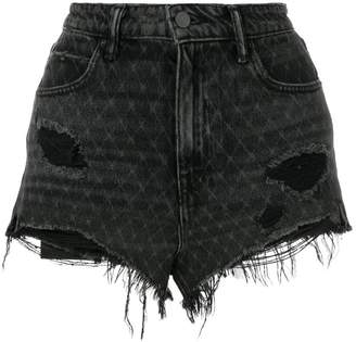 Alexander Wang bite net cut off shorts