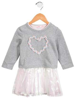 Billieblush Girls' Layered Iridescent Dress w/ Tags
