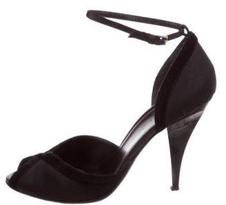 Gucci Satin Ankle Strap Sandals