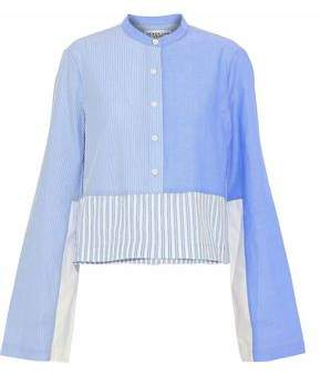 Outlet Cheap Price Derek Lam 10 Crosby Woman Striped Crinkled Cotton-poplin Shirt Blue Size L Derek Lam Aaa Quality Best Place Online Outlet Limited Edition Buy Cheap Cost X5qlG