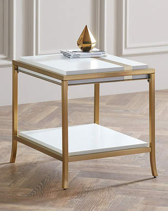 Hooker Furniture Cynthia Rowley for Side Stripe End Table