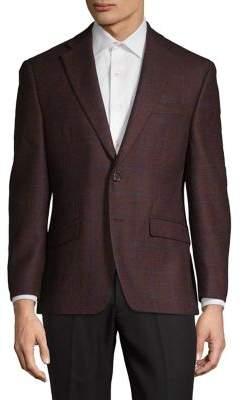 Lauren Ralph Lauren Classic-Fit Windowpane Wool Sportcoat