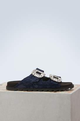 Roger Vivier Slidy Viv rhinestone sandals