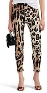 Area Women's Finola Leopard-Print Faux-Fur Leggings