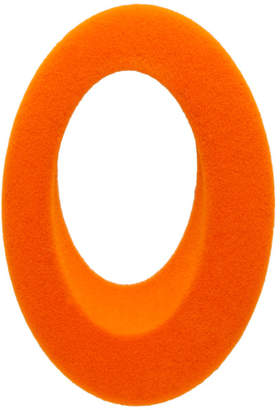 Ribeyron Orange Single Oval Felt Earring