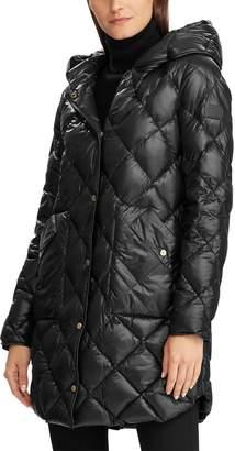 Lauren Ralph Lauren Modern Soft Diamond Quilted Hooded Down Coat