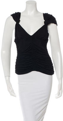 Jean Paul Gaultier Sleeveless Ruched Top $85 thestylecure.com