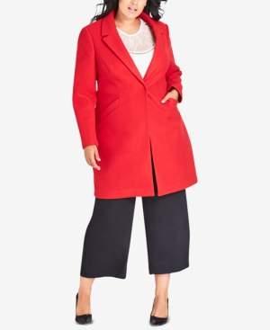 City Chic Trendy Plus Size Bromley Coat
