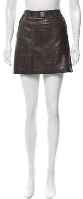 Vince Leather Mini Skirt
