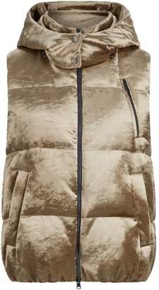 Brunello Cucinelli Velvet Hooded Gilet