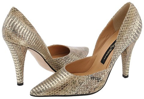Beverly Feldman - Ainsley (Beige/Gold Metallic Snake)