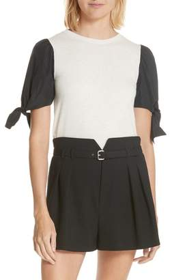 RED Valentino Contrast Tie Sleeve Sweater